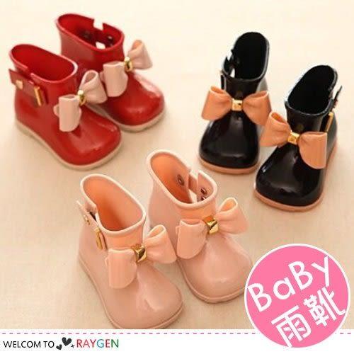 兒童立體蝴蝶結防滑雨靴 短靴 雨鞋