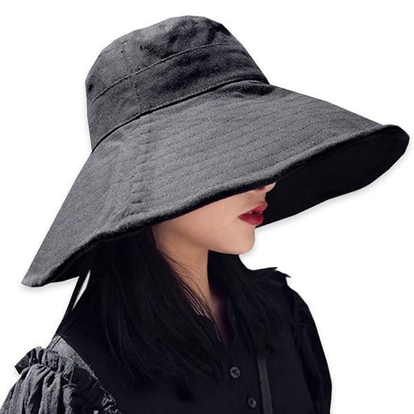 OT SHOP帽子‧素色超大帽檐記憶鐵絲‧遮陽帽漁夫帽盆帽‧遮陽透氣海灘穿搭配件‧現貨3色‧C2016