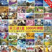 【買三送一】1000片拼圖成年減壓益智玩具超難紙質拼圖【雲木雜貨】