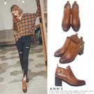 Ann'S微涼季節-金屬斜帶側拉鍊擦色粗...