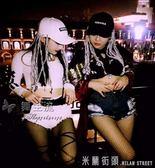 新款酒吧DS歌手DJ演出帽子夜店街頭hiphop嘻哈臟辮鴨舌帽子女