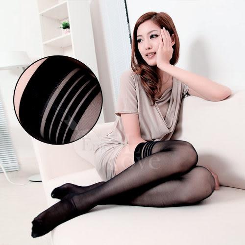 【滿額免運費】 【獨愛情趣用品】性感連身褲襪 fashion 超彈性透明性感長筒絲襪﹝黑色款﹞