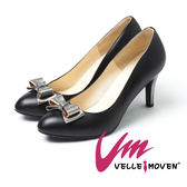 Velle Moven~浪漫美人~MIT氣質尖頭舒適跟鞋_氣質黑