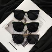 新款復古方形黑色太陽眼鏡男 個性 潮 ins超火墨鏡網紅街拍女
