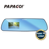 【PAPAGO!】F16 1296P 後視鏡行車紀錄器(美國安霸晶片 超廣角+大光圈)