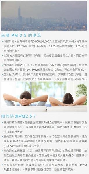 myAir PM2.5偵測器 空氣 空汙 偵測器