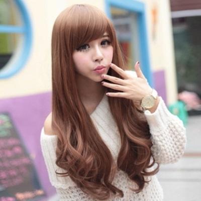 假髮(長髮)-時尚捲髮氣質斜瀏海女配件3色73fi36【時尚巴黎】