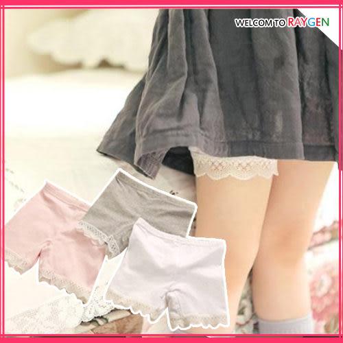 童裝 女童蕾絲花邊防走光打底褲 內搭褲 短褲