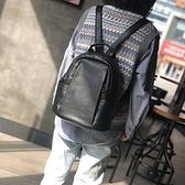 真皮後背包-簡約柔軟牛皮雙層女雙肩包73zu50【巴黎精品】