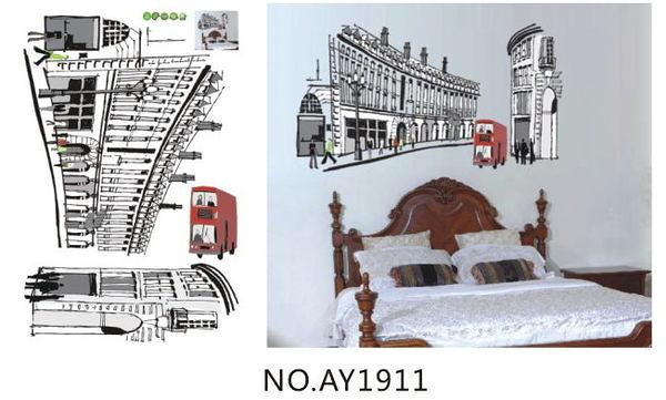 特大款AY-1911第三代可移動式DIY藝術裝飾無痕壁貼/牆貼/防水貼紙