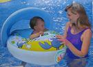 【YourShop】可調式遮陽螃蟹造型兒童坐式游泳圈 ~兒童游泳圈/造型車船~