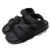 adidas 涼鞋 Adilette Sandal 2.0 W 黑 全黑 二代 魔鬼氈 涼拖鞋 基本款 女鞋【PUMP306】 CG6623