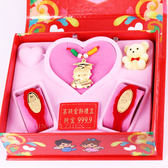 金寶珍銀樓-科技博士-彌月金飾音樂禮盒(0.20錢)