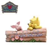 【正版授權】Enesco 維尼小豬對看 塑像 公仔 精品雕塑 小熊維尼 皮傑 迪士尼 Disney - 219292