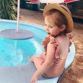 泳裝 兒童泳衣女孩小孩1-3歲連體可愛寶寶嬰兒公主游泳衣女童小童泳裝 {優惠兩天}
