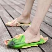 涼拖鞋夏季新款男士防滑軟底情侶沙灘鞋男潮室外穿夏天半拖鞋 芊惠衣屋