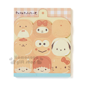 〔小禮堂〕Sanrio 大集合 造型便條本《黃.格紋.大臉.多角色》黃金麵包屋系列 4901610-05341