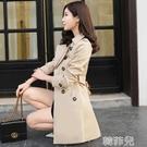 風衣 風衣女中長款韓版春秋季新款外套秋裝小個子女士女裝流行大衣 新年禮物