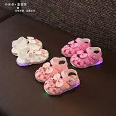 推薦一歲女寶寶軟底涼鞋1-3歲夏季女童公主鞋子嬰兒涼鞋0-1-2歲潮閃燈【狂歡萬聖節】