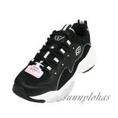(A1)SKECHERS(女)老爹鞋DLITES 3.0 厚底 復古 運動鞋 12955BKW 黑 [陽光樂活]