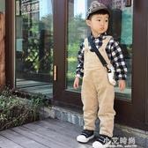 男童加絨加厚吊帶褲2019新款1-4歲寶寶冬裝褲子女童連體褲小童裝【小艾新品】