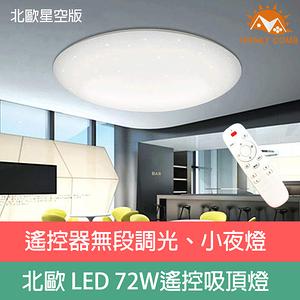 Honey Comb 星空LED 72W 調光調色客廳吸頂燈 V1860C72W