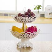 尾牙年貨節帶底座多層水果籃歐式果盤現代客廳三層水果盤創意時尚干果點心盤第七公社