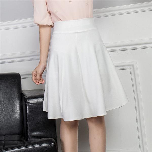 半身裙夏季大擺半身裙高打底防走光中長裙A字顯百褶裙褲蓬蓬裙