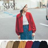 Queen Shop【02010954】圓領排釦針織外套 七色售*現+預*