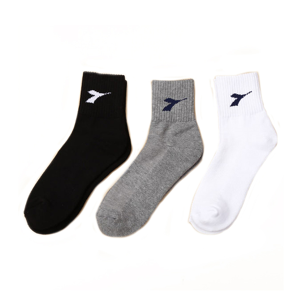 DIADORA 快速吸汗運動襪寬大版 白 男女款