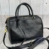 BRAND楓月 LOUIS VUITTON LV 路易威登 M42401 SPEEDY25 黑原花壓紋波士頓包 手提包