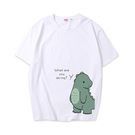 可愛恐龍短袖上衣親子裝(小孩/白色)