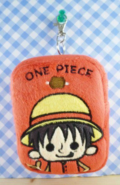 【震撼精品百貨】One Piece 海賊王~票夾零錢包-魯夫(紅)
