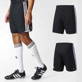 adidas 短褲 CONDI 16 SHO 黑 白 男款 慢跑 足球 運動褲 【PUMP306】 AJ5838