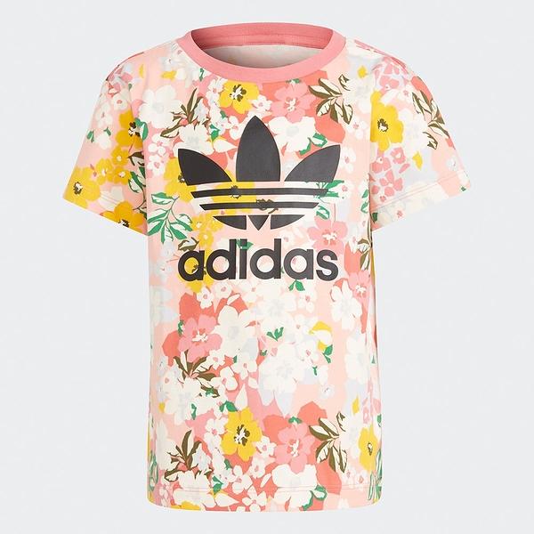 Adidas Originals HER STUDIO LONDON 童裝 短袖 小童 純棉 花卉 粉【運動世界】GN4209