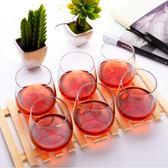 水晶透明玻璃水杯套裝6只裝家用耐熱杯子茶杯果汁杯啤酒杯 都市韓衣
