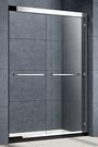 【麗室衛浴】 一字型推拉門 二門二活 LP25-2  8mm強化玻璃   現貨白/銀框 B-046