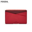 FOSSIL Gift 岩漿紅真皮名片夾 SLG1081627