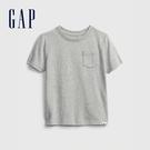 Gap男幼童 布萊納系列 活力純棉純色圓領T恤 669948-淺麻灰