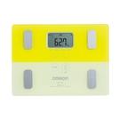 OMRON 歐姆龍 體重體脂肪計 HBF225 螢光芥末黃色