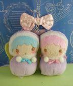 【震撼  】Little Twin Stars KiKi LaLa 雙子星小天使絨毛鎖圈_ 娜娜奇奇