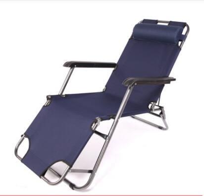 折疊躺椅 躺椅折疊午休閒椅子午休閒器午睡床便攜超輕家用成人多功能jy【快速出貨超夯八折】