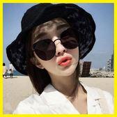 雙十二狂歡 2018新款網紅墨鏡女潮復古氣質太陽鏡長圓臉個性韓國貓耳朵眼鏡夢想巴士