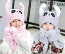 兒童帽子 兒童一捏兔耳朵會動的帽子冬天寶寶保暖可愛男女童毛絨帽【限時八折】