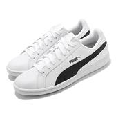 Puma 休閒鞋 Smash L 皮革 白 黑 基本款 小白鞋 男鞋 女鞋 百搭款【ACS】 35672211