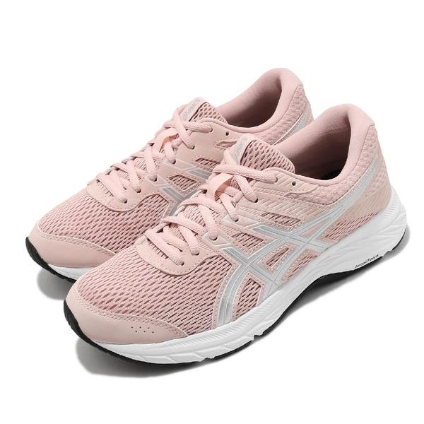 Asics 慢跑鞋 Gel-Contend 6 粉 銀 女鞋 基本款 運動鞋 【ACS】 1012A570702