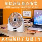 USB小風扇迷你可充電靜音便攜式隨身小電...