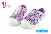 native JEFFERSON 奶油頭鞋 水鞋 休閒洞洞鞋 中小童 K9434#粉紫◆OSOME奧森鞋業