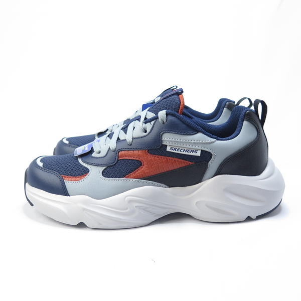 Skechers STAMINA AIKY LABAK 休閒鞋 51936NVMT 男款 灰藍x橘【iSport愛運動】