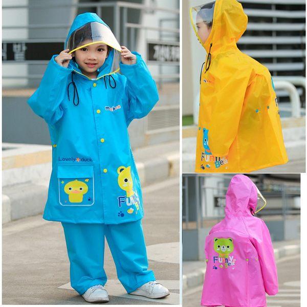 兒童雨衣雨褲 兩件式雨衣 套裝兒童卡通雨衣套裝雨褲大帽檐雨衣 88076